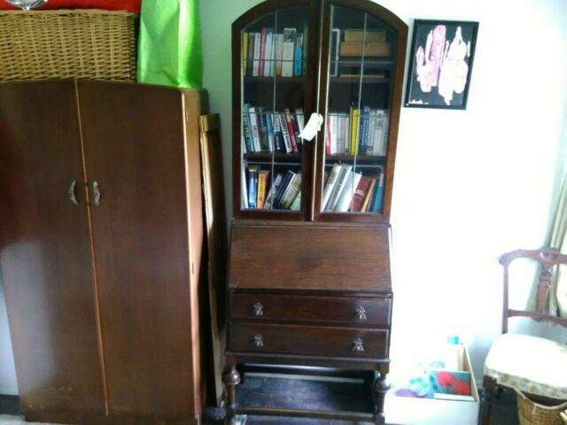 Vintage writing bureau and display cabinet | in Gabalfa, Cardiff | Gumtree