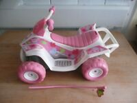 "Large Pink "" Baby Born "" doll's car. Sleeve has come off arial hence low price."