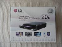 LG External Super Multi DVD Rewriter 20x with silent play