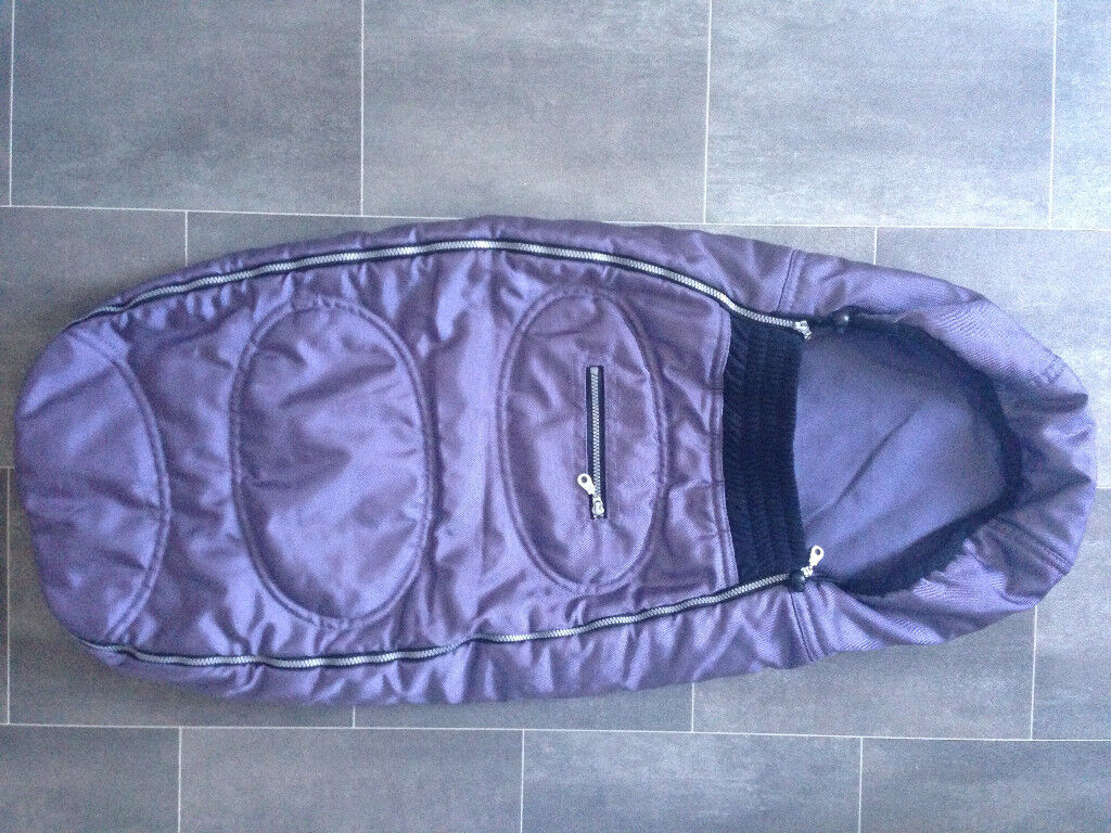 QUINNY BUZZ BUGGY SNUGGLE COSYTOES FOOT MUFF IN PURPLE