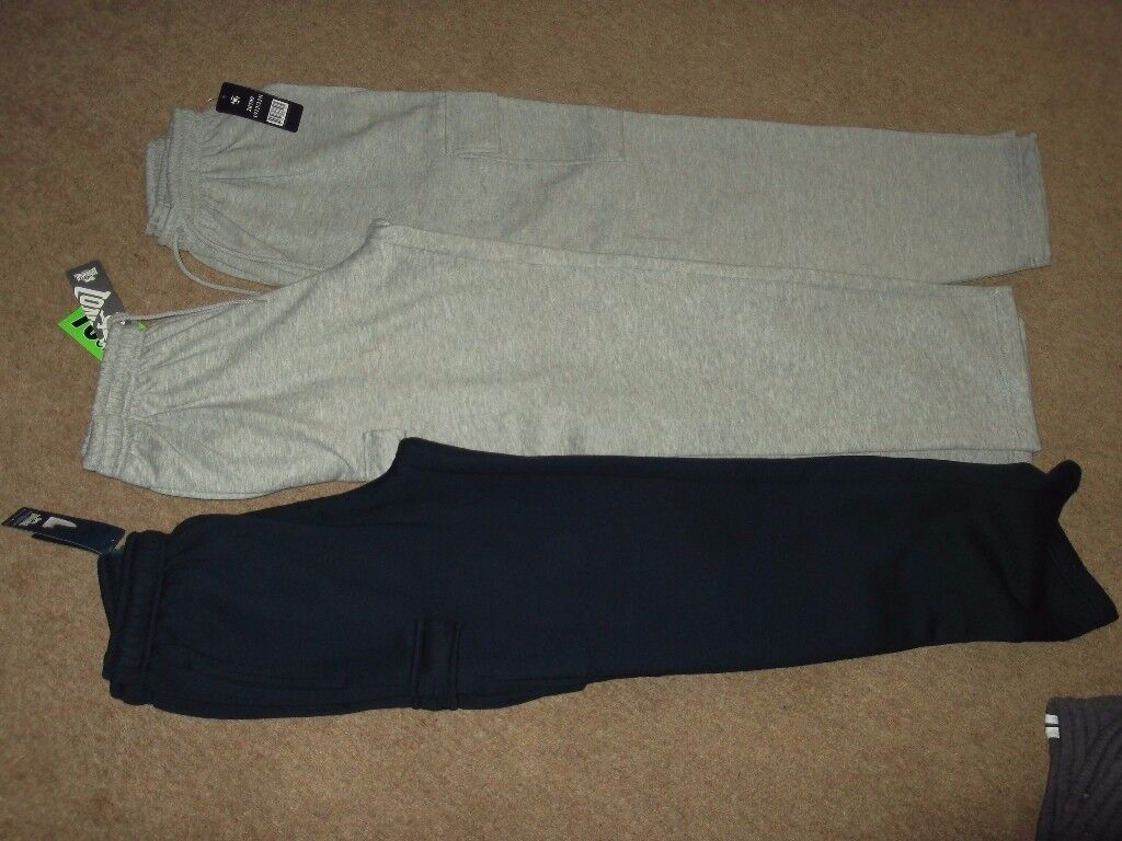 jogging bottoms x3 brand new size large