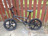 "bmx bike 20"" mag wheels stunt pegs 11""frame WORKS FINE nice tidy"