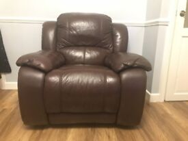Leather sofa set is for sale