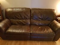 Leather Recliner large 2 seater sofa
