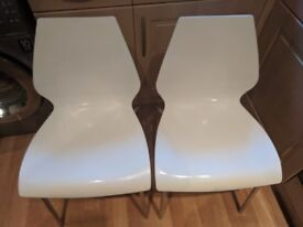 Pair of White chairs
