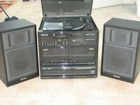 VINTAGE 1980's PHILLIPS FCD485 CD MIDI HI-FI SYSTEM VINYL RECORDS TAPES RADIO RECORD PLAYER EXC