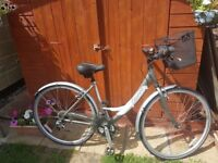 Ladies Hybrid/City Bicycle with Accessories in New Condition