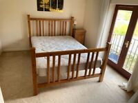 Habitat Standard Double pine bed with mattress