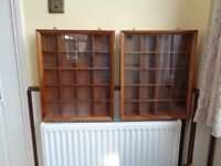 Display cabinets x2 for Curio/collectables