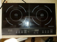 Counter top twin Induction cooker -- Good condition
