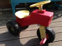 Toddler ride on pedal tractor