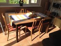 Family dining table and chairs