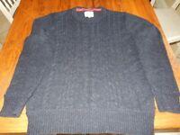 Mens Burton Size Medium Cable Knit Jumper