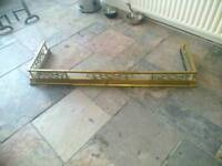 Fireplace brass fender and accessories
