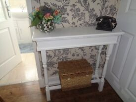 Hand made console table.