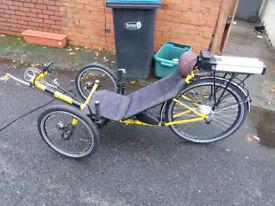 TW-Bents Recumbent Trike (electric) 250w 10a 26 inch rear wheel