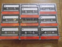 50 blank TDK D C90 Ferric cassettes - pre-fitted labels - recorded once, now wiped & ready to record