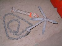 anchor for speedboat fishing boat rib outboard motor engine