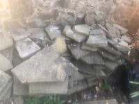 Large stones suitable for crazy paving or garden.