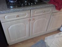 kitchen cream units for sale i need to taken by this week