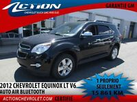 2012 CHEVROLET EQUINOX FWD LT V6 AUTO AIR BLUETOOTH**1 PROPRIO**