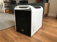 Bitfenix black/white mini ITX case with two Bitfenix fans