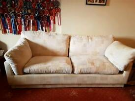 Comfy 3 seater and armchair