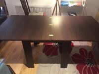 Dark Wood Extendable Dining Table