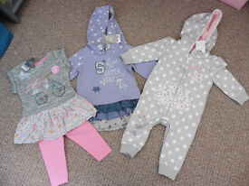 Brand new baby girl clothes 6-9mths (next, f&f)