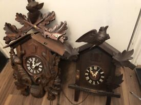 Two German cuckoo clock antique