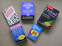 Job lot 5 Books Oxford Dictionary Collins Thesaurus Xword Dictionary Xword Comp' Popular Quotations