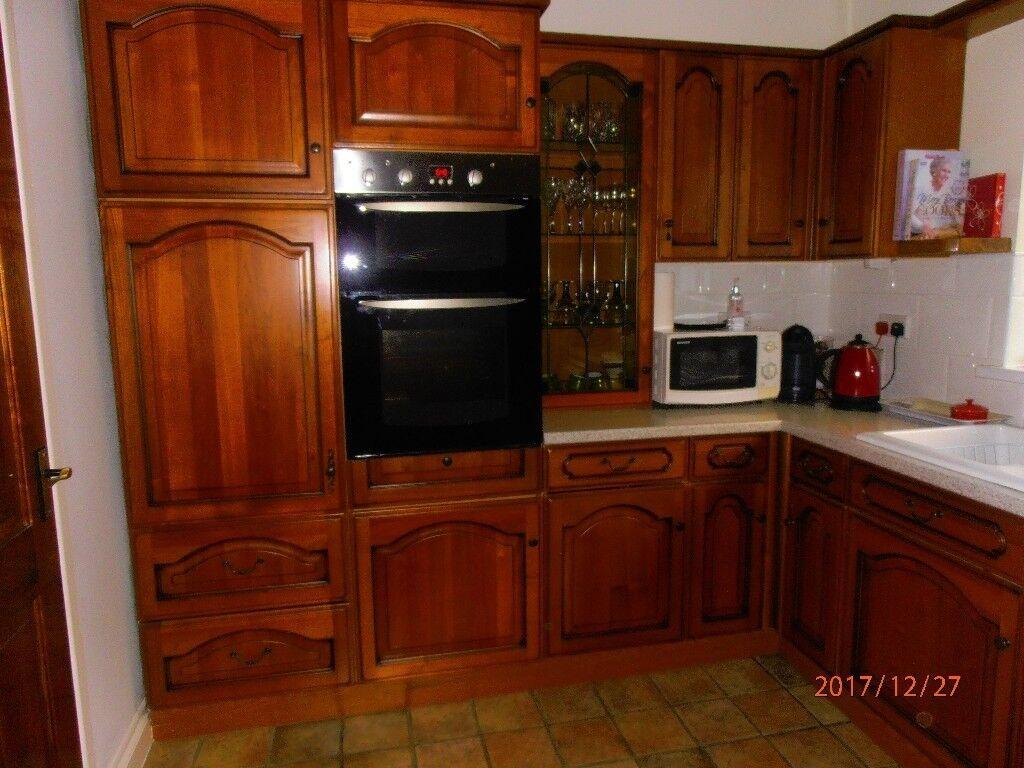 Chippendale Wall and base kitchen units inc. corner & larder ...