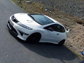 Championship white Honda civic type r fn2.
