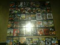 Silver ps2 slim and 43 games