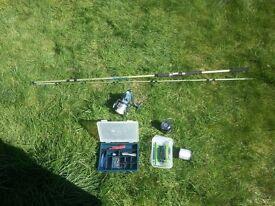 Shakespeare in2 Mackerel fishing rod with equipment