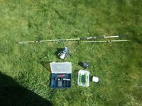 Shakespeare in2 Mackerel fishing rod with equipment