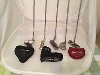 A selection of putters including Scotty Cameron,Odyssey and Fisher-Used