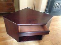 tv/video corner unit/table - mahogany colour
