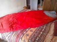 Red sleeping bag
