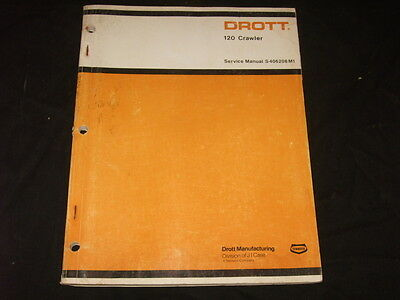 Drott Case 120 Crawler Tractor Dozer Bulldozer Shop Repair Service Manual