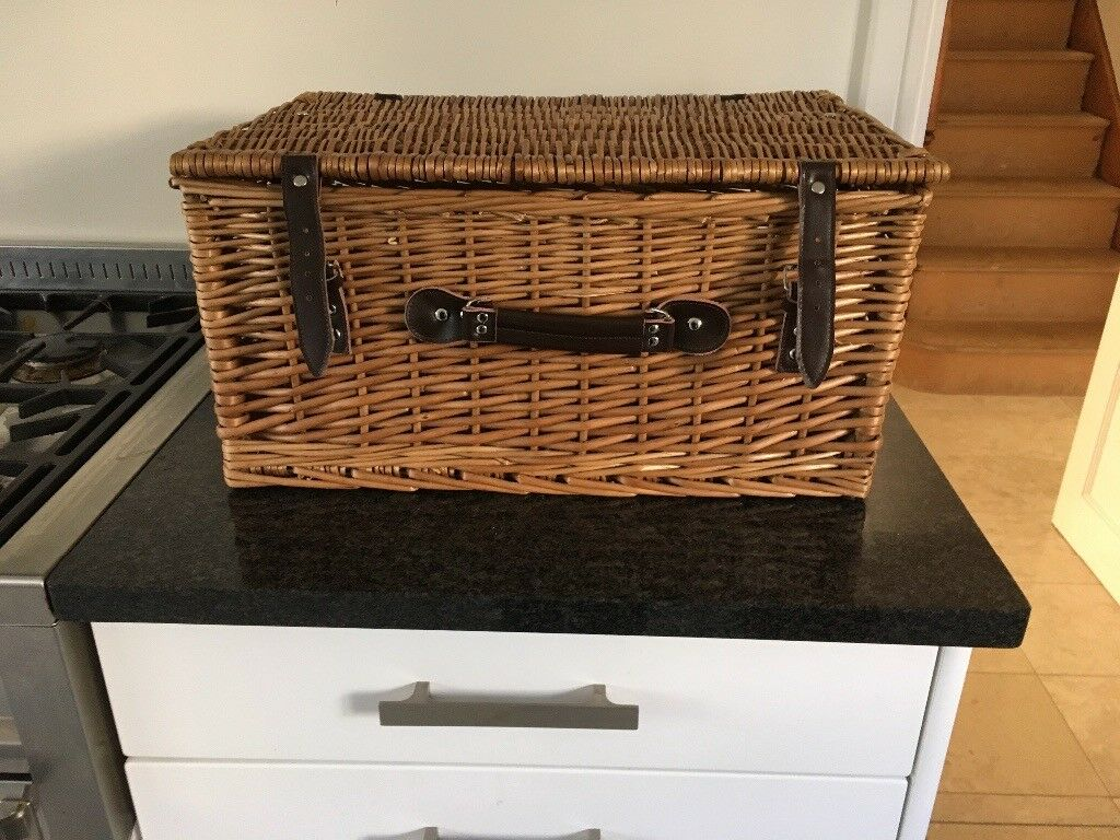 Genuine Rattan Honey Picnic Hamper/Basket/Storage