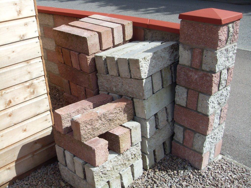 Gray Red Brick Building Block : Fyfestone blocks red grey in stonehaven