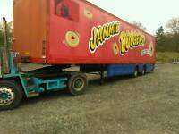 Box van trailer, storage container.