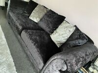 Lovely crushed velvet style sofas