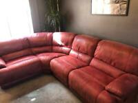 Harveys Guvnor corner recliner sofa