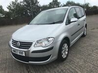 \\\\\ 07 VOLKSWAGEN TOURAN S TDI ,, 7 SEATER ,, IMMACULATE 1 OWNER CAR £3499