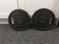 2x 20kg BodyMax Olympic Metal Weights Plates