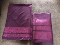 Double duvet purple with sequins