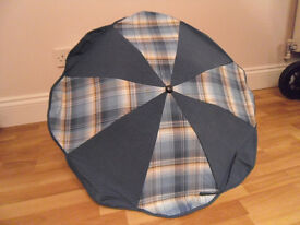 Versatile Sunshade Parasol with multifit clamp to suit most frames, good condition £15