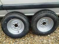 Brand new trailer wheels & 145/80/10 tyres never been fitted ....
